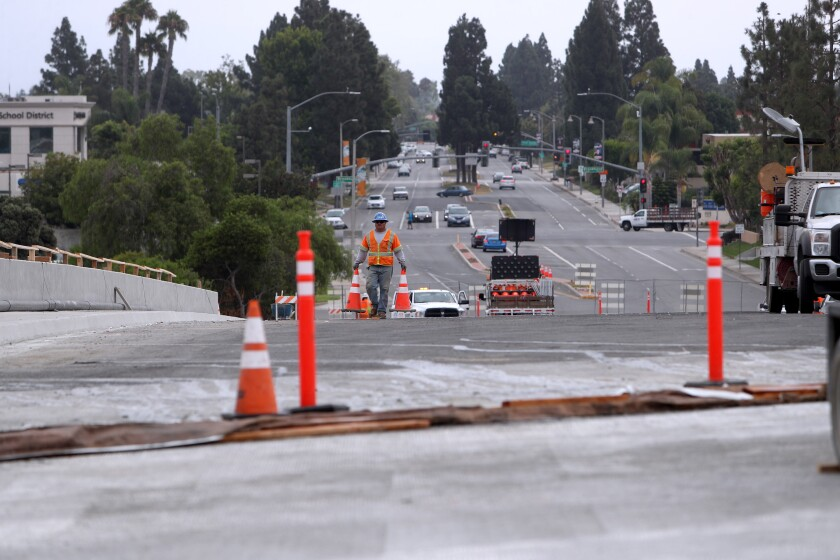 Out of the 18 bridges that will be built, widened or replaced as part of the overall 405 Freeway widening project, Slater Avenue will be the first to be completed.