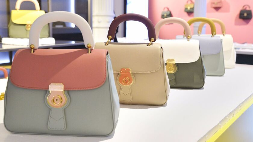 A look at the Burberry DK88 handbags, which come in 18 colorways.