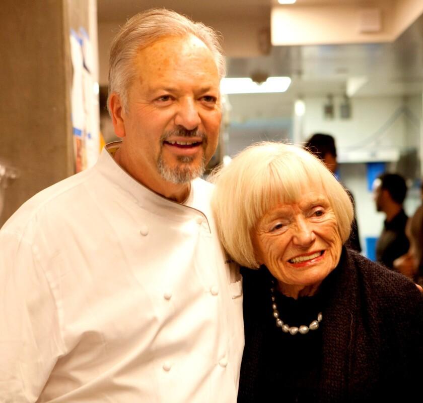 Rivera chef John Sedlar and Margrit Biever Mondavi.