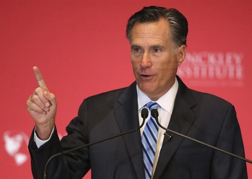 El excandidato presidencial republicano en 2012, Mitt Romney, anunció hoy formalmente que se presentará a las elecciones legislativas de noviembre próximo con la intención de salir elegido como senador por Utah. EFE/Archivo
