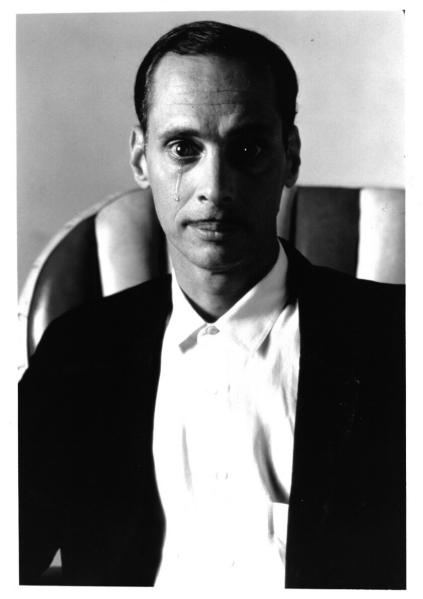 """A photograph of John Waters featured in his book """"Mr. Know-It-All."""""""