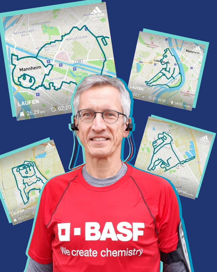 Norbert Asprion and his mapped running routes.