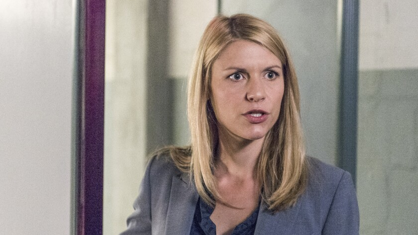 "Claire Danes in ""Homeland"" on Showtime."