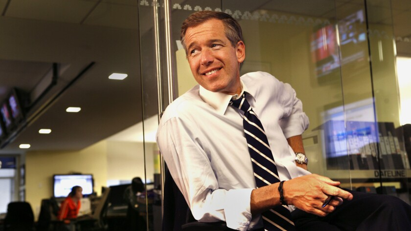 Brian Williams might have been demoted to MSNBC, but he remains center stage