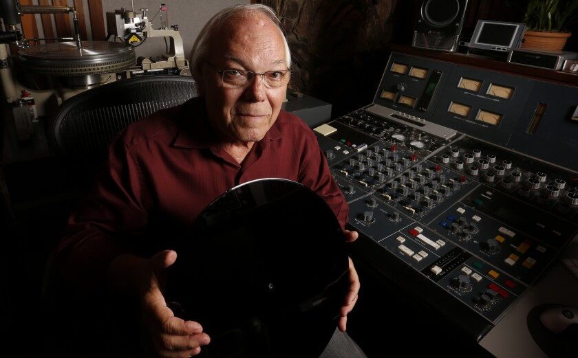 Ron McMaster, mastering engineer at Capitol Studios for 30 years, is helping to train a new generation of vinyl cutters, both to keep up with the current demand and to make sure someone can take over for him when he retires this year.