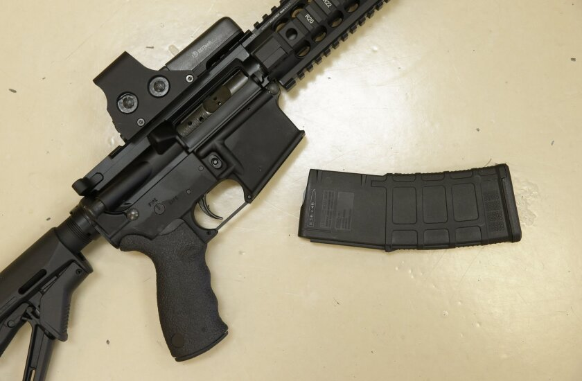 Guns with magazines holding more than 10 bullets are considered assault weapons under California law.
