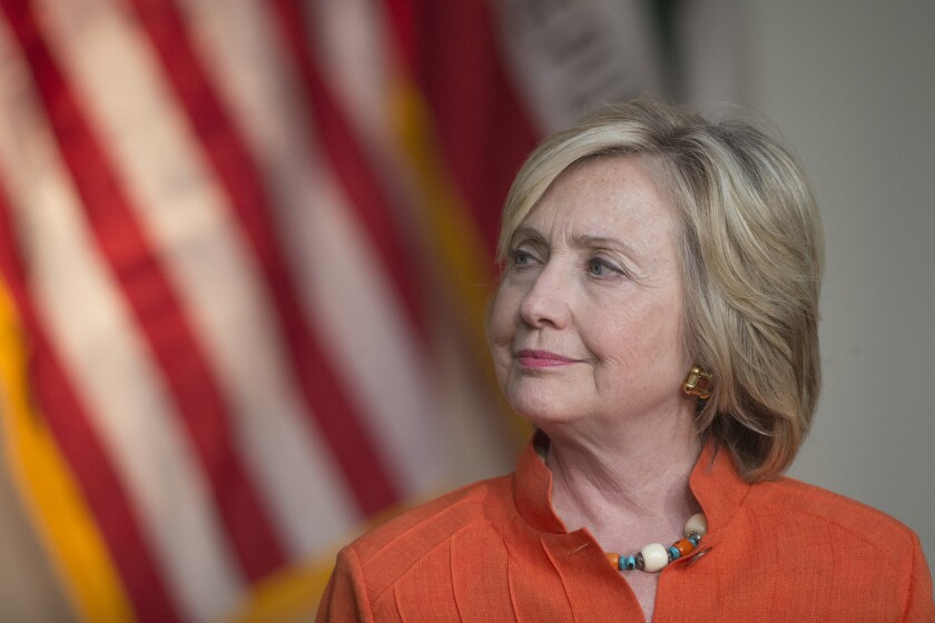 Hillary Rodham Clinton says the government needs to examine Islamic State's use of social media. Silicon Valley is already wary of what information lawmakers want from tech companies.