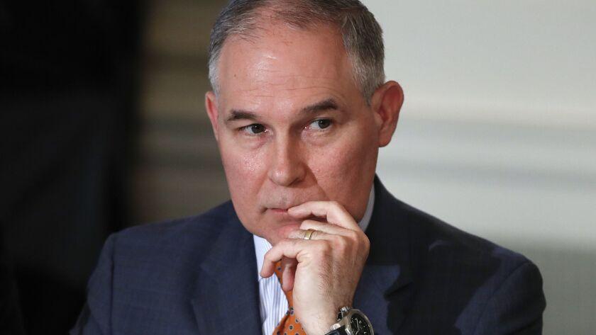 Environmental Protection Agency Administrator Scott Pruitt in February.