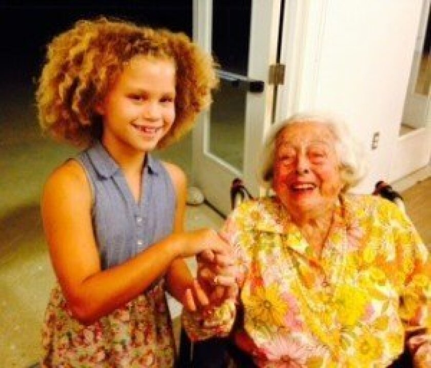 Lexi Worms and Selma Malk enjoyed singing together at a recent singalong. Courtesy photo