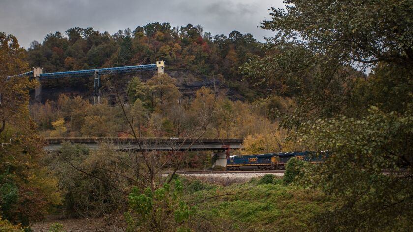 Train heading towards a coal mine in Combes, KY. October 26, 2018