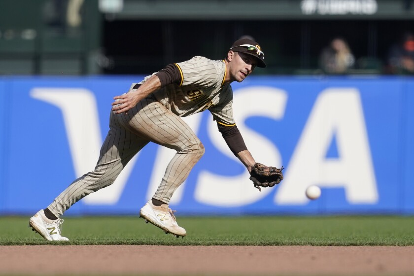Padres second baseman Adam Frazier