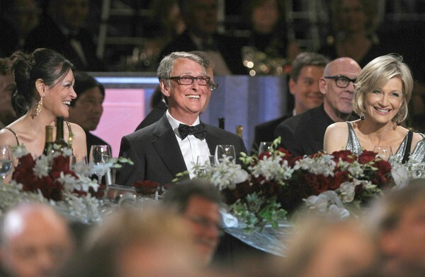Mike Nichols and his wife, Diane Sawyer, at the AFI Life Achievement Award dinner honoring Nichols. The event was held at Sony Pictures Studios Thursday night.