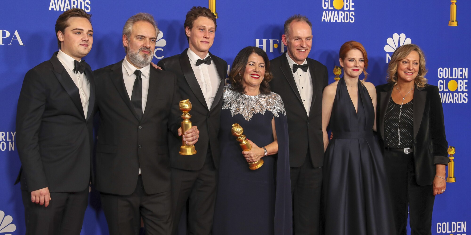 """1917"" cast at the 77th Golden Globe Awards."