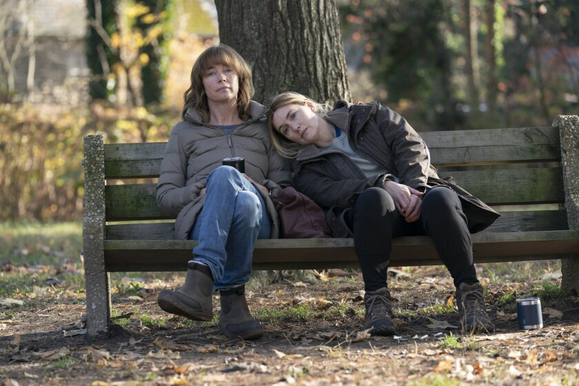 """Julianne Nicholson and Kate Winslet in """"Mare of Easttown."""""""