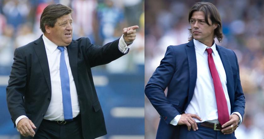 Miguel 'Piojo' Herrera (i) y Matías Almeyda, dos opciones para dirigir al seleccionado mexicano.