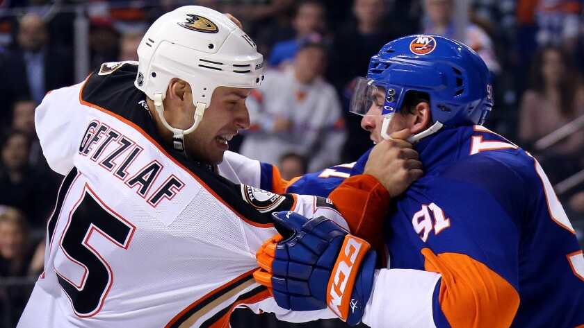 For captain Ryan Getzlaf, squaring off against the Rangers' John Tavares, and the Ducks, it's been an uphill battle this season.