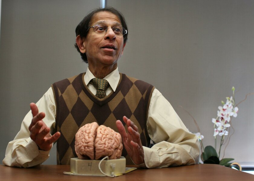 Dr. Dilip Jeste, UC San Diego neuroscientist, lectures earlier this year on the relationship between aging and wisdom.
