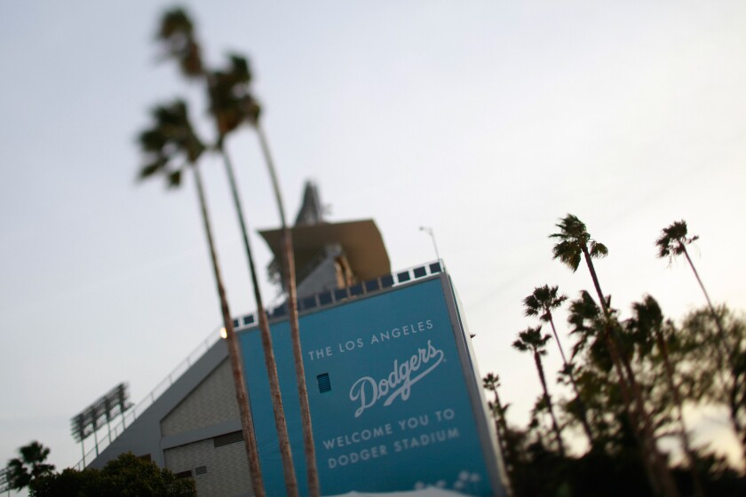 Three men are accused ofstealingequipment, such as bats and jerseys, that Dodgers players used in games at Dodger Stadium, according to an affidavit filed in Los Angeles County Superior Court.