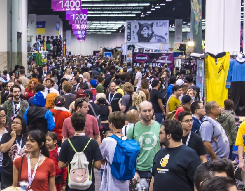 Exhibit hall filled with fans at WonderCon Anaheim.