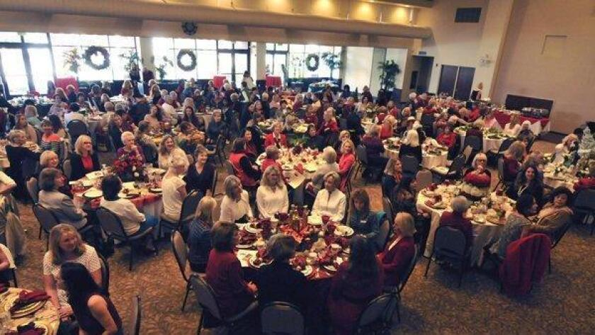 """The Village Church holds a variety of events throughout the year, such as this holiday luncheon (above) and the upcoming """"Chopped at Church"""" fundraiser."""