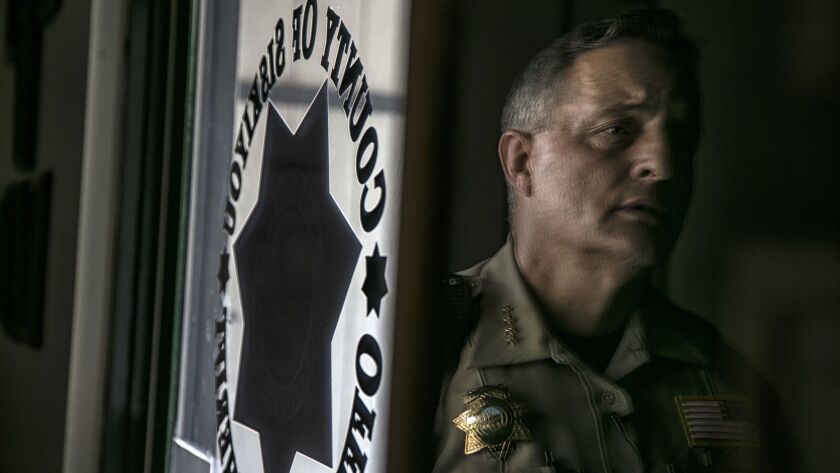 SISKIYOU COUNTY, AUGUST, 2017 - Sherrif John Lopey runs a department that patrols the vast area of S