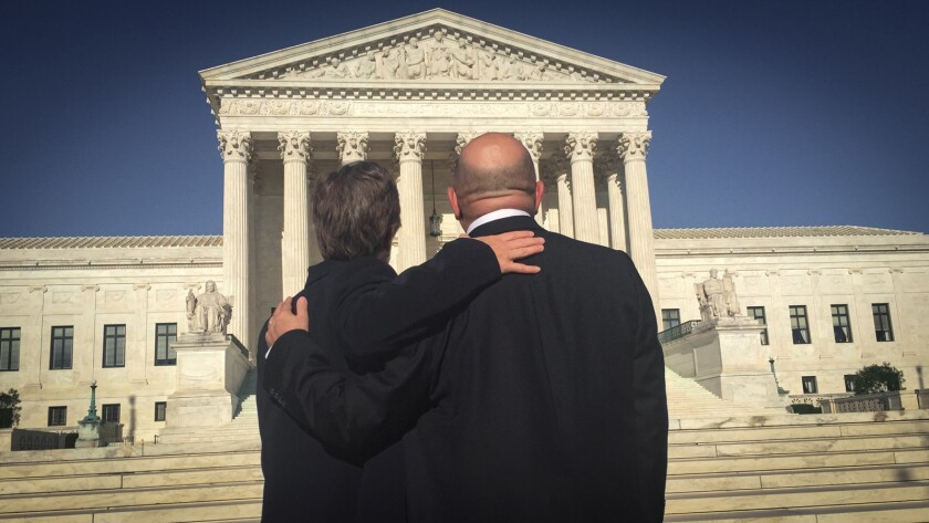 """Activists Mary Bonauto and Evan Wolfson in the documentary """"The Freedom to Marry."""""""
