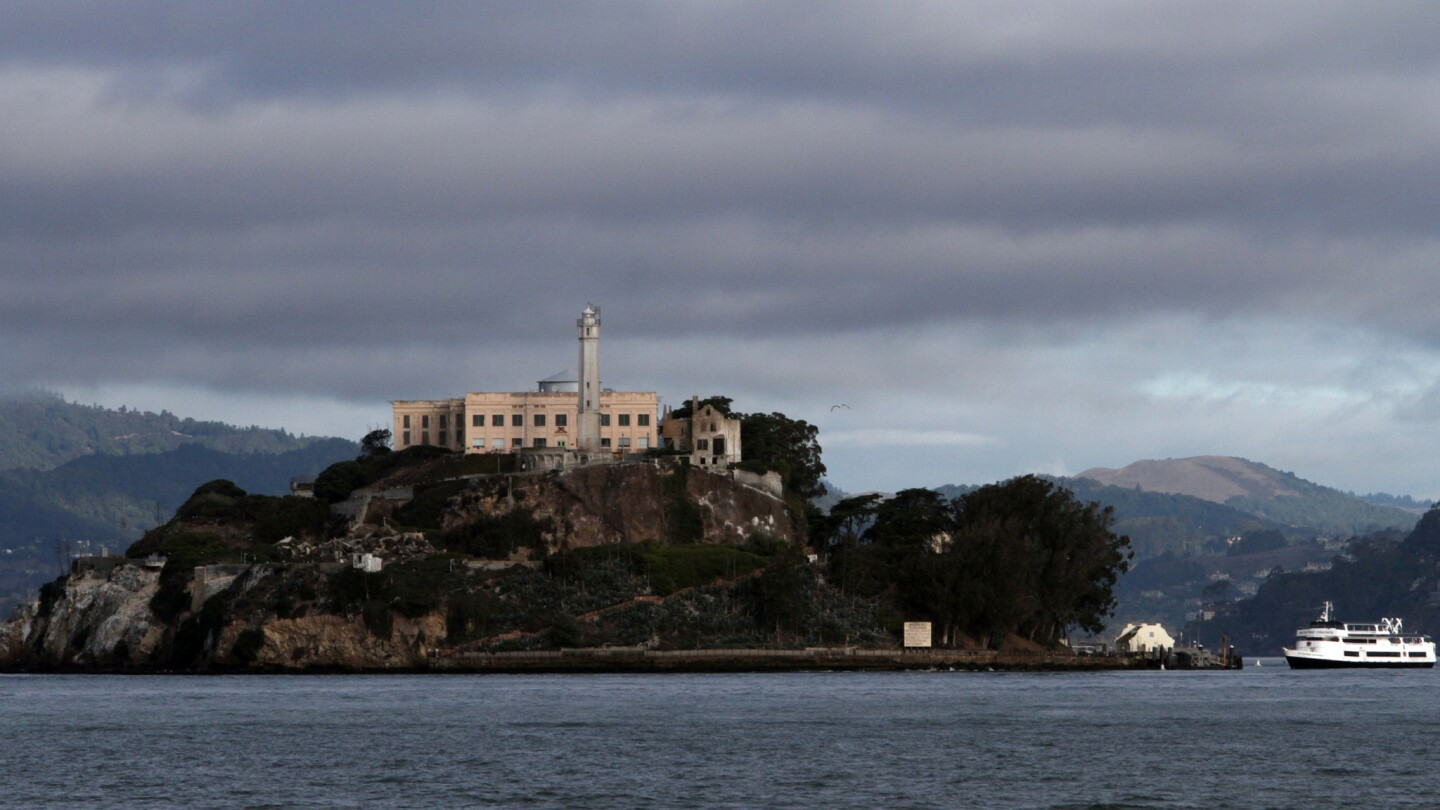 Alcatraz Island in San Francisco Bay is the site of Chinese dissident artist Ai Weiwei's new exhibition.