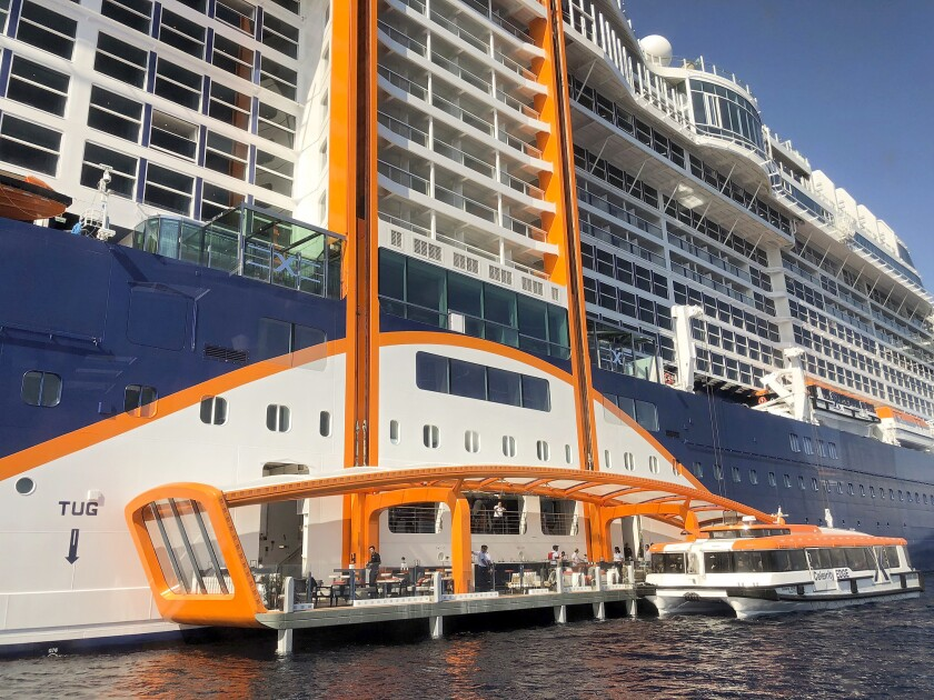Aboard the new Celebrity Edge, I checked out its wow features - Los Angeles  Times