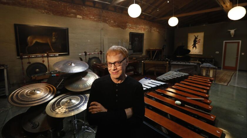 LOS ANGELES, CA - MARCH 21, 2019 - - Composer Danny Elfman at his studio in Los Angeles on March 21,