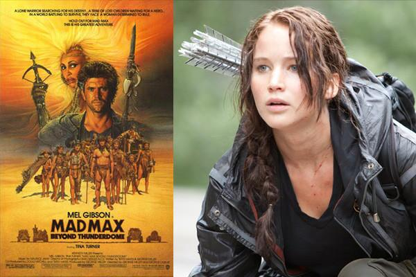 """Both """"Mad Max Beyond Thunderdome"""" and """"The Hunger Games"""" are set in a post-apocalyptic future and involve a competitive arena where only the victor survives."""