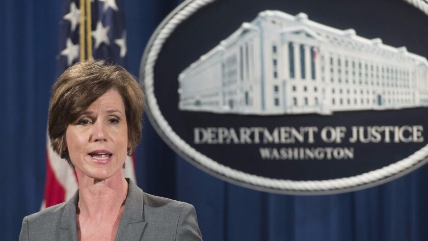 Sally Yates in June.