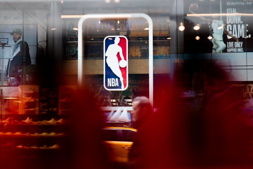 The NBA is suspending drug testing of players with the league on hiatus because of the coronavirus pandemic.