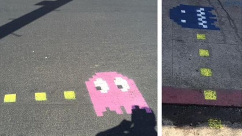 Pac-Man street art in downtown L.A.