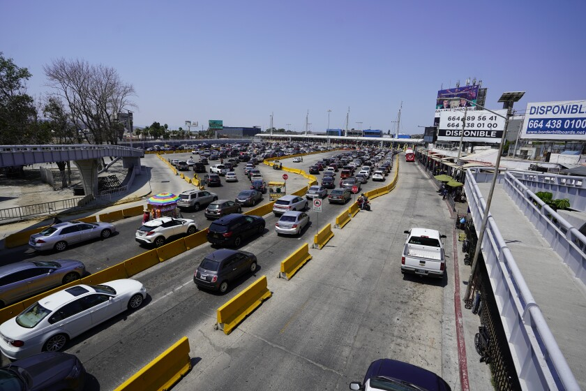 Traffic into San Ysidro from Tijuana has dropped