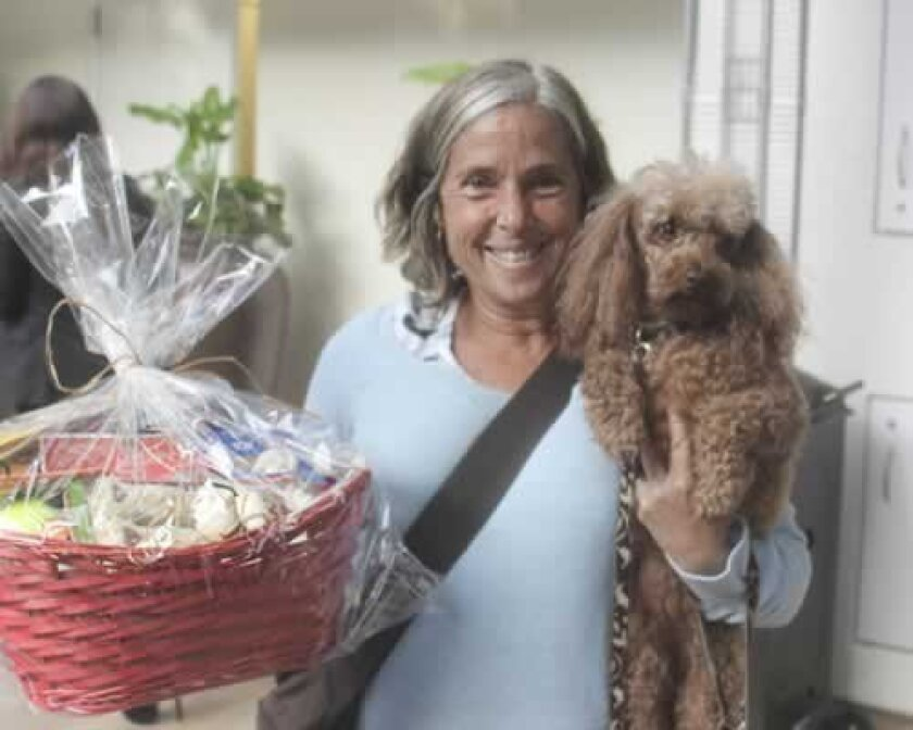 Lucy won a goodie basket thanks to her owner Jennifer Kline.