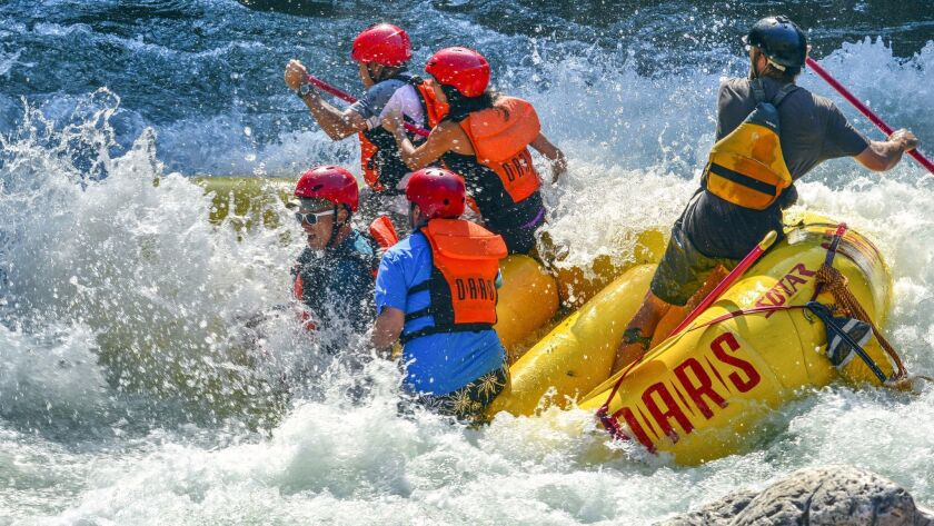 River rafting trips on the Tuolumne River near Yosemite National Park should start soon and last through August.