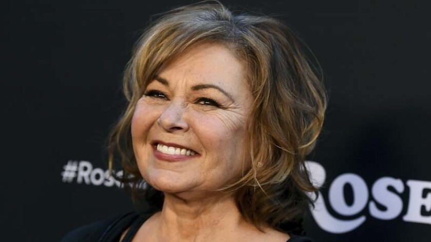 "Roseanne Barr arrives at the March premiere of the rebooted ""Roseanne."""