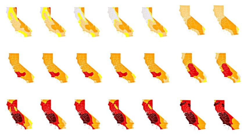 A sampling of California drought maps