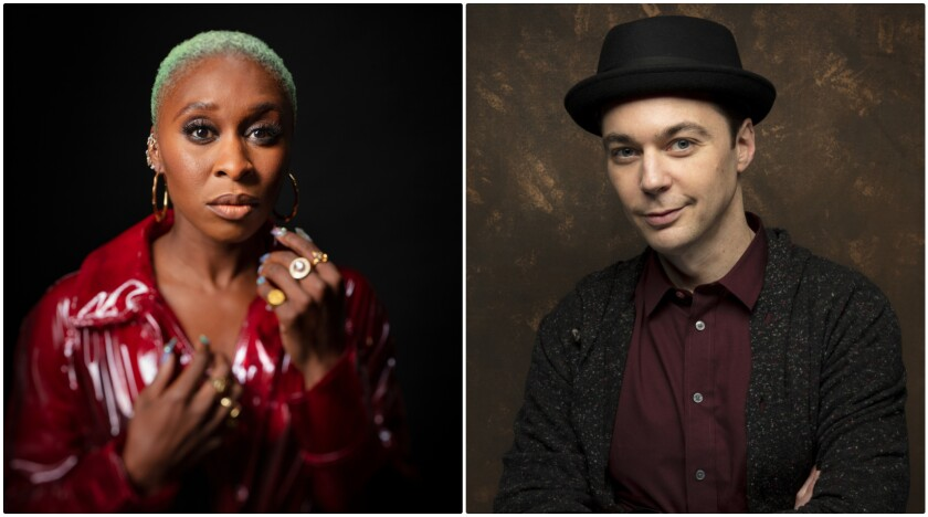 Cynthia Erivo and Jim Parsons.