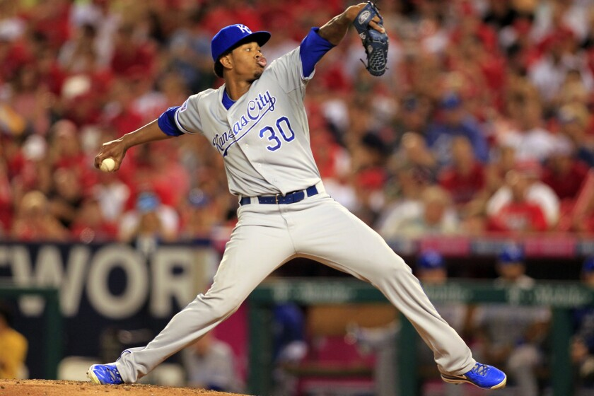 Yordano Ventura of the Kansas City Royals, who died Sunday in a car accident, had a fastball that reached 100 mph.