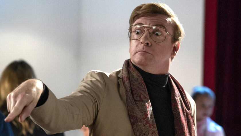 """Rhys Darby guest stars as the drama teacher on a new episode of """"Single Parents"""" on ABC."""