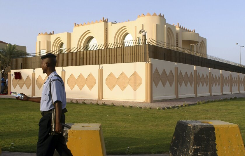 FILE -- In this Tuesday, June 18, 2013 file photo, shows a general view of the Taliban office in Doha before the official opening in Doha, Qatar. Qatar's behind-the-scenes role in securing the release of U.S. Army Sgt. Bowe Bergdahl, June 1, 2014, in exchange for five Taliban operatives was a classic move by a tiny but natural gas-rich Gulf state. American officials have since told The Associated Press that Qatari intermediaries acted as go-betweens for months, including during the final days of negotiations that led to the detainee swap. (AP Photo/Osama Faisal, File)