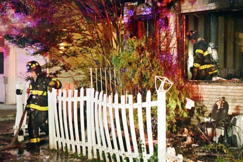 A 62-year-old man died in a fast-moving fire that tore through his Staten Island home early Sunday.