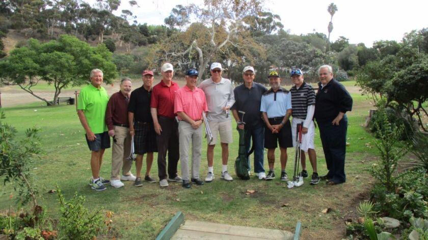 Presidio reunion: From left, Walt Willows, Joe Aiken, Jim Myers, Kemp Richardson, Jim Carl, Logan Jenkins, Mike Riley, Dave Mendes, Ken Kirkpatrick, Tom Addis.