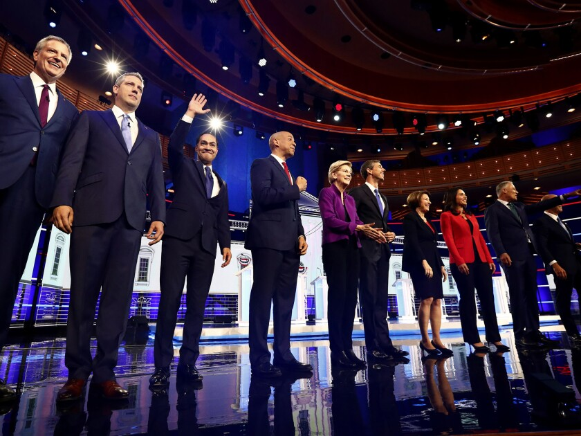 Democrats return to the debate stage Thursday under a format that cut the field in half.