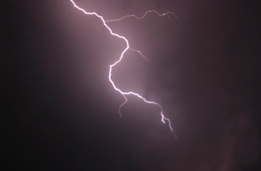 The National Weather Service says there were 396 cloud-to-ground lightning strikes in San Diego County on Wednesday