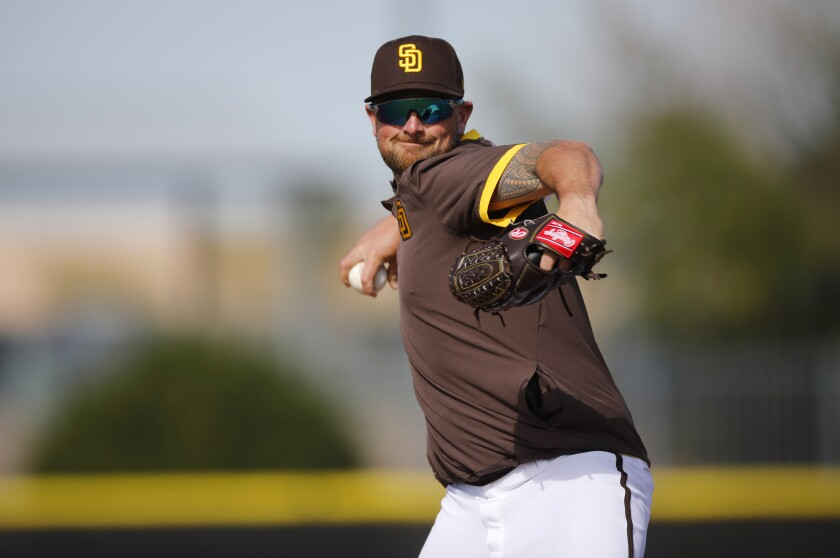 Padres closer Kirby Yates led the majors in saves in 2019.