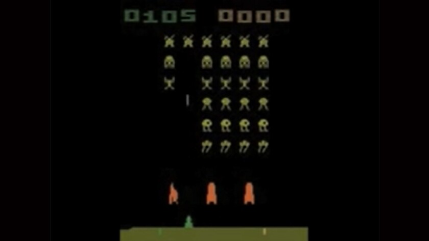 Researchers with Google's DeepMind project created a computer loosely based on brain architecture that mastered computer games -- such as Space Invaders, above -- without any knowledge of their rules.