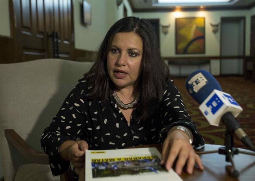 La directora para las Américas de Amnistía Internacional, Erika Guevara Rosas, habla durante una entrevista con Efe en Managua (Nicaragua). EFE/Archivo