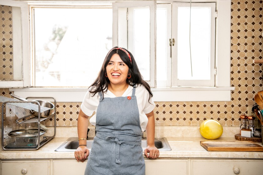 Food writer and online cooking instructor Karla Vasquez in her Los Angeles kitchen